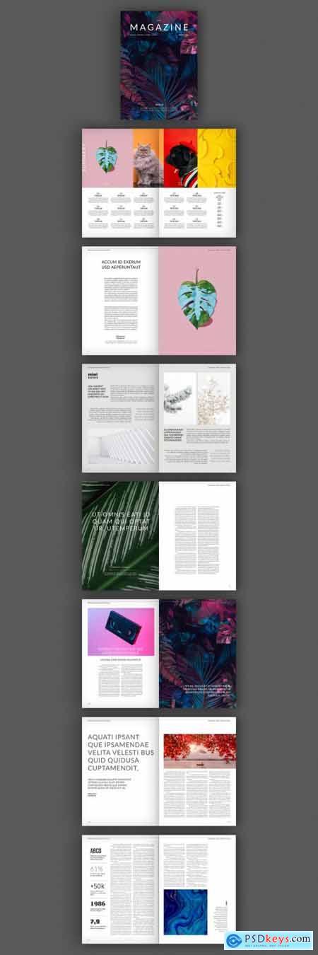 Minimalist Magazine Layout 316005788