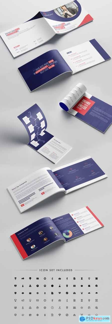 Pink and Purple Business Brochure Layout 316003197