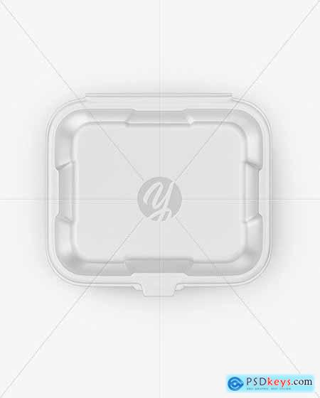 Matte Tray with Paper Label Mockup 53742