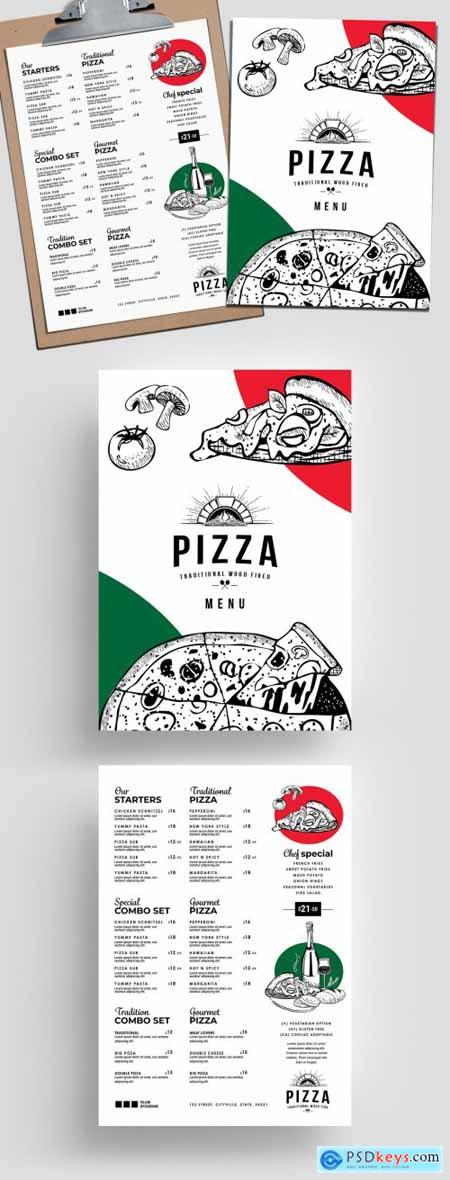 Pizza Menu Layout for Italian Restaurant 315968462