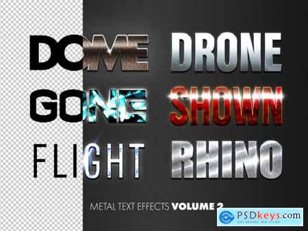 Metal Text Effects Mockup Bundle 316229222
