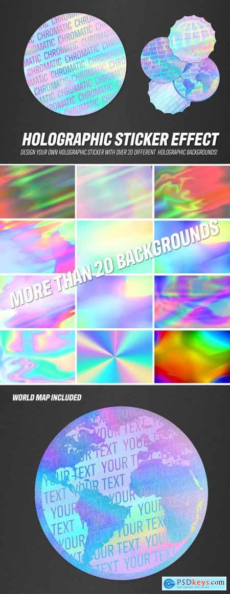 Holographic Sticker Design Mockup 316229681