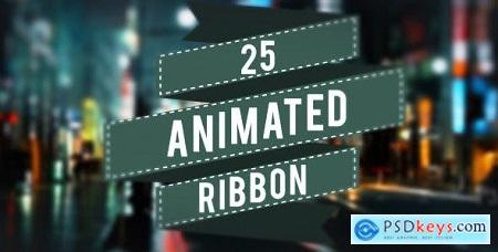 Videohive 25 Animated Ribbons 5223383