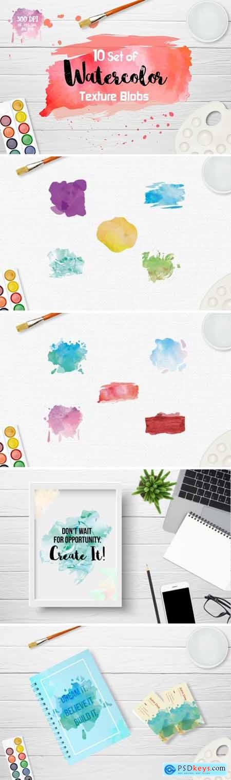 Watercolor Texture Blobs