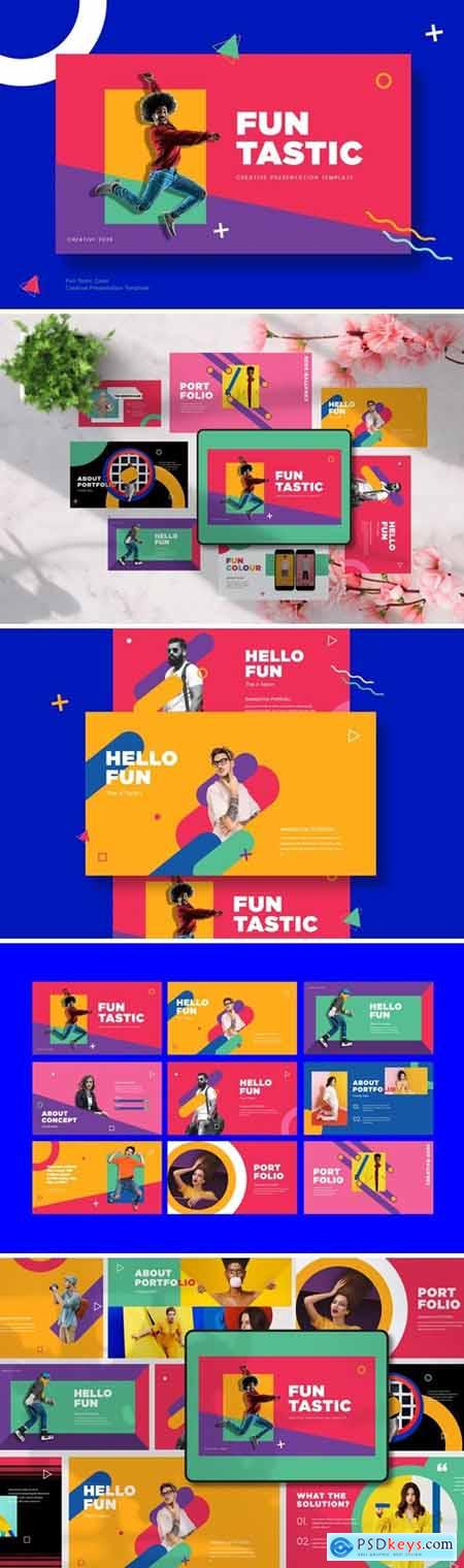 Fun Tastic Colored Powerpoint, Keynote and Google Slides Templates