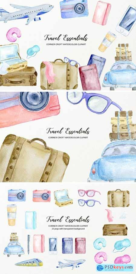 Watercolor Travel Essentials