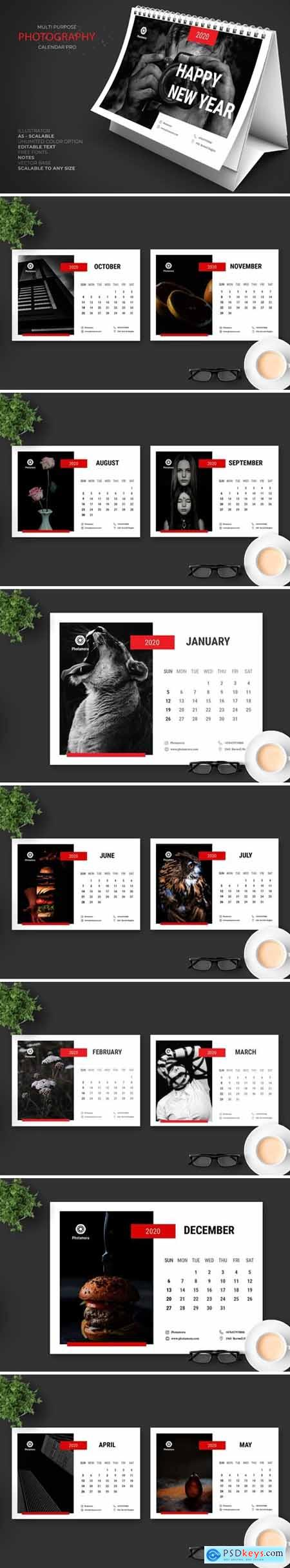 2020 Photography Calendar Pro