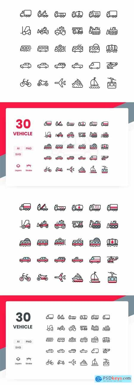 Vehicle - Icons Pack