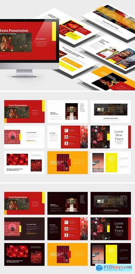 Yuvio - Lunar New Year Festival Powerpoint, Keynote and Google Slides Templates