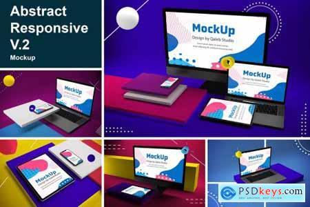 Abstract Responsive Mock Up V.2 4444567