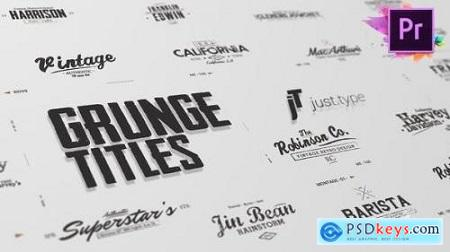 Videohive Just Type Grunge Titles For Premiere Pro 24036560