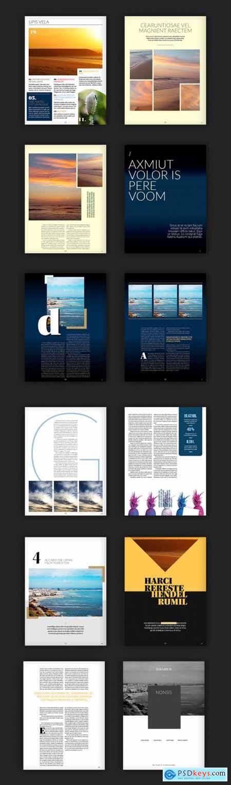 Modernes Digitalzeitschriften-Layout 228181544