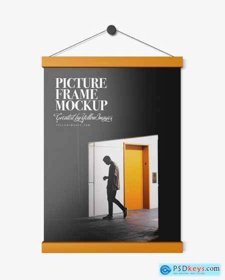 Glossy Picture Frame Mockup 53951