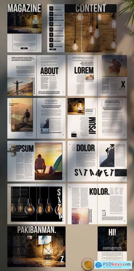 Black and White Magazine Layout 316265740