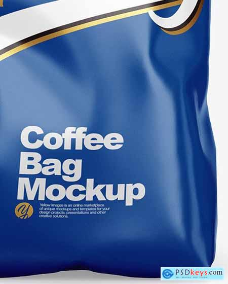 Glossy Coffee Bag Mockup 53805