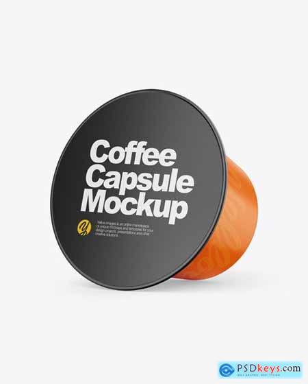 Glossy Coffee Capsule Mockup 53914