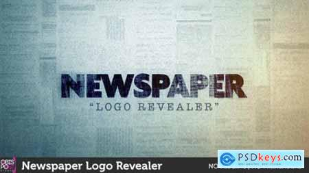 Videohive Newspaper Logo Reveal 10159248