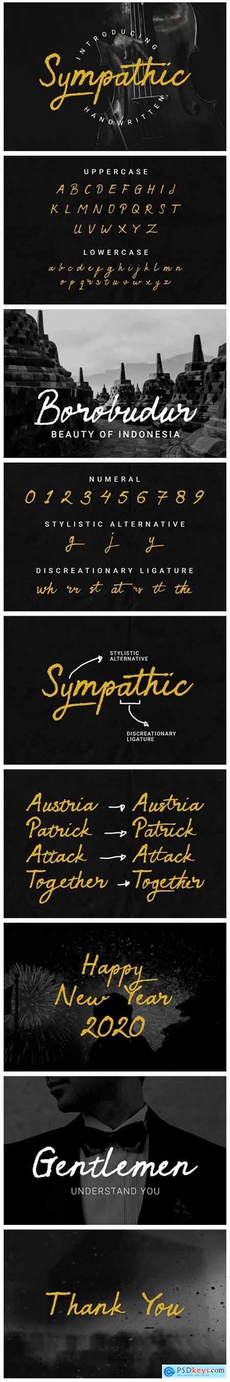Sympathic Font