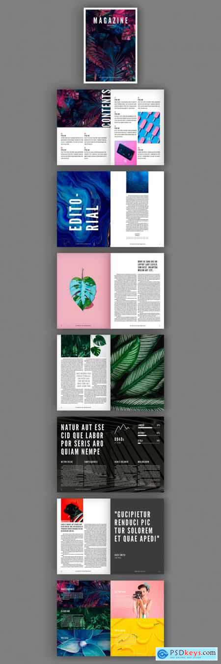 Black and White Magazine Layout with Bold Text Elements 302754880