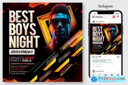 Boys Night Party Flyer 4445150
