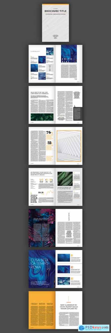 Brochure Layout with Orange Accents 307444921