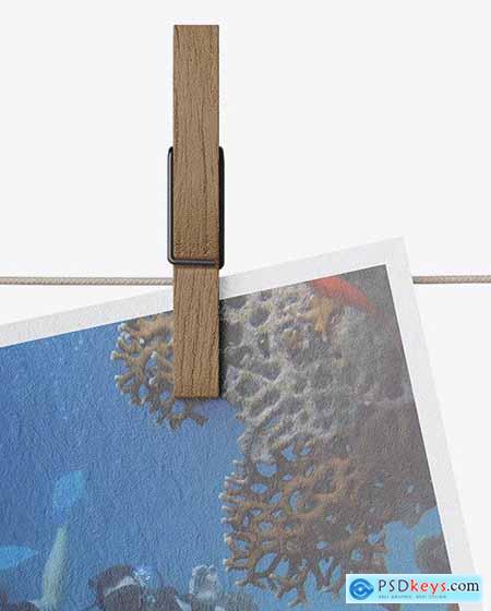 Paper Snapshot w- Pin Mockup 54111