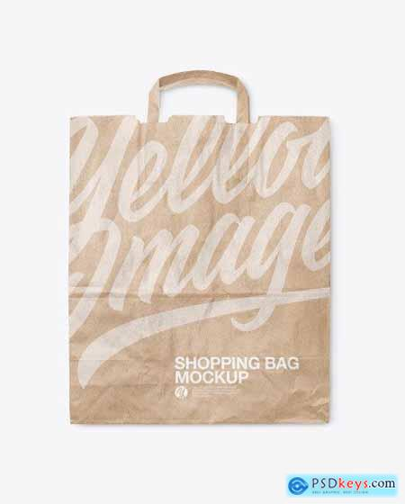 Kraft Shopping Bag Mockup 54544