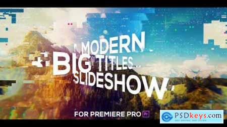 Videohive Big Titles Glitch Slideshow for Premiere Pro 25547353