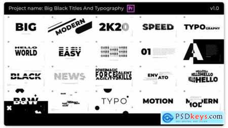 Videohive Big Black Titles And Typography 25277607