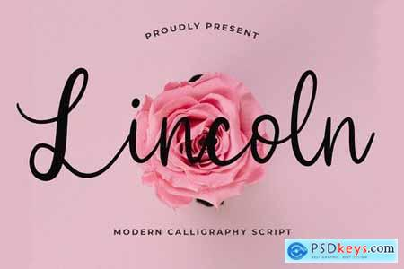 Lincoln Beautiful Calligraphy Font 4490395