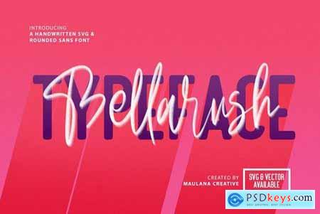 Bellarush SVG Brush Font Free Sans 4489533