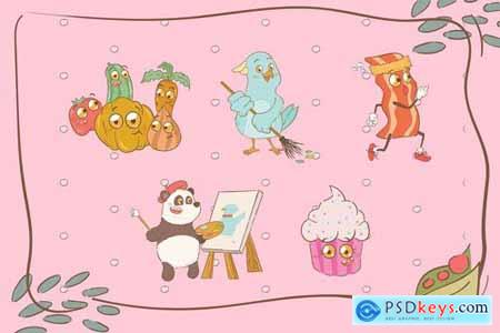 Cute Animal Illustrations Pack