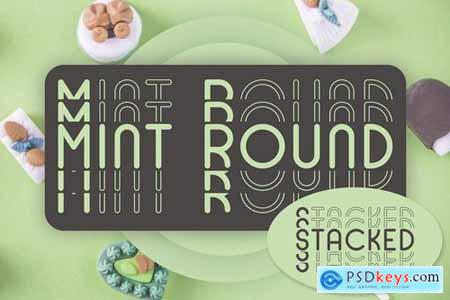 Mint Round - Stacked - Mirrored Font 4445630