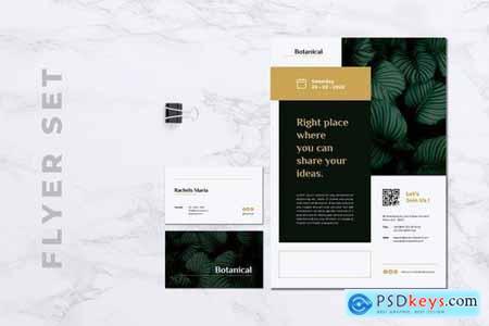 MADDON Botanical Flyer & Business Card