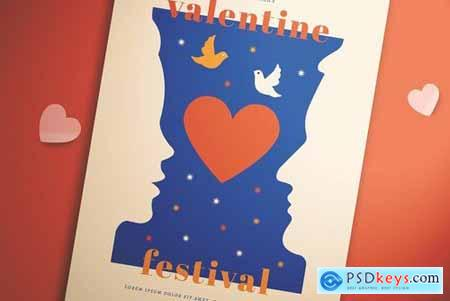 Simple Valentine Festival Flyer