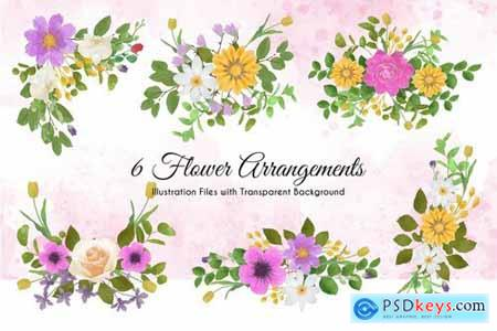 Watercolor Floral Illustrations Pack