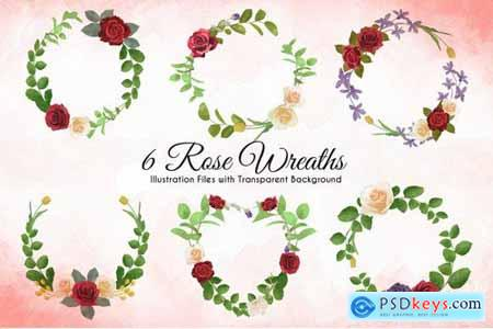 Watercolor Rose Illustrations Pack
