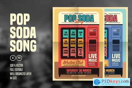Retro Pop Soda Song Flyer