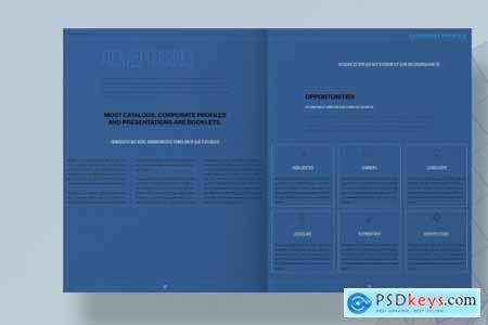 Blue Architecture Brochure Layout 4493032