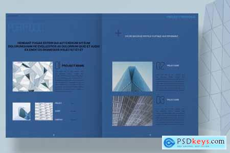 Blue Architecture Proposal Layout 4493122