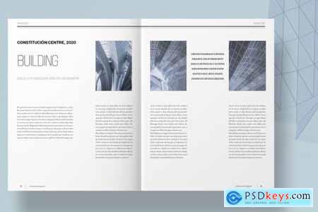 Blue Architecture Magazine Layout 4493081