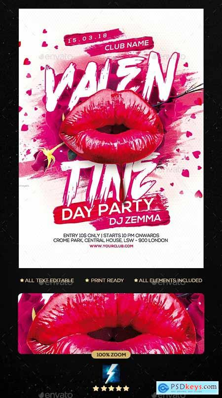Valentine Day Party Flyer 23136822