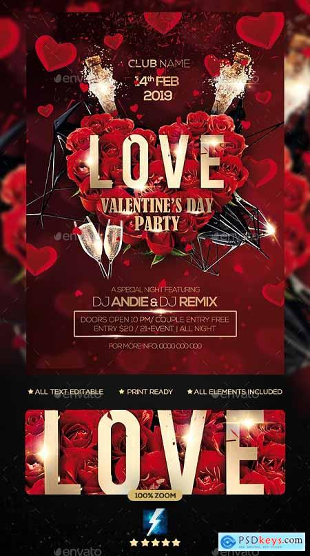 Valentine Day Party Flyer 23137085