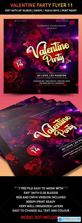 Valentine Party Flyer 11 23214452