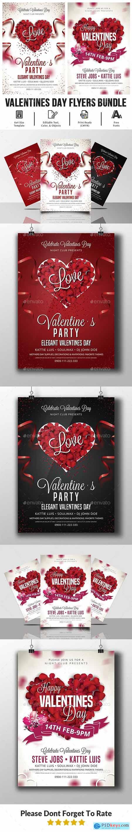 Valentines Day Flyer Bundle 23186610