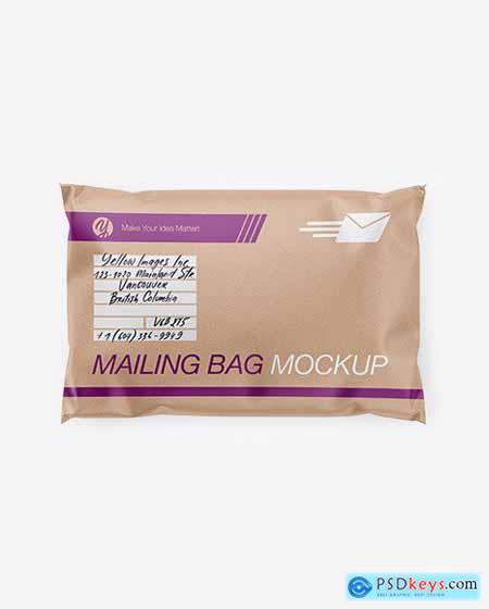 Kraft Mailing Bag Mockup - Top View 54740