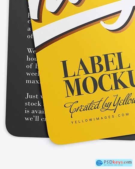 Two Matte Labels Mockup 53502
