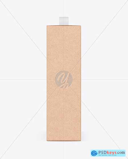 Kraft Box With Handle Mockup 54728