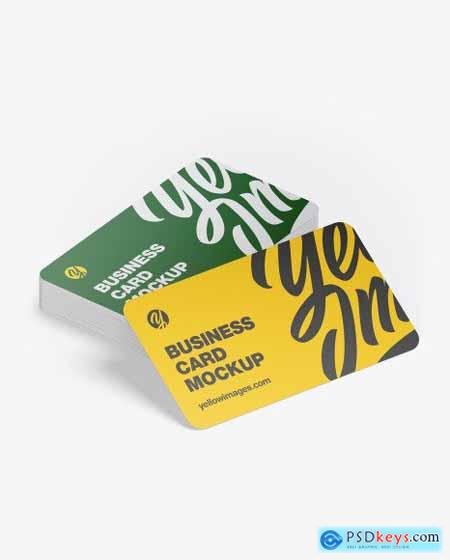 Stack of Business Cards Mockup 54671