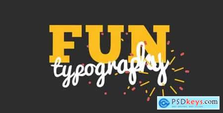 Videohive Fun Kinetic Typography 7703583
